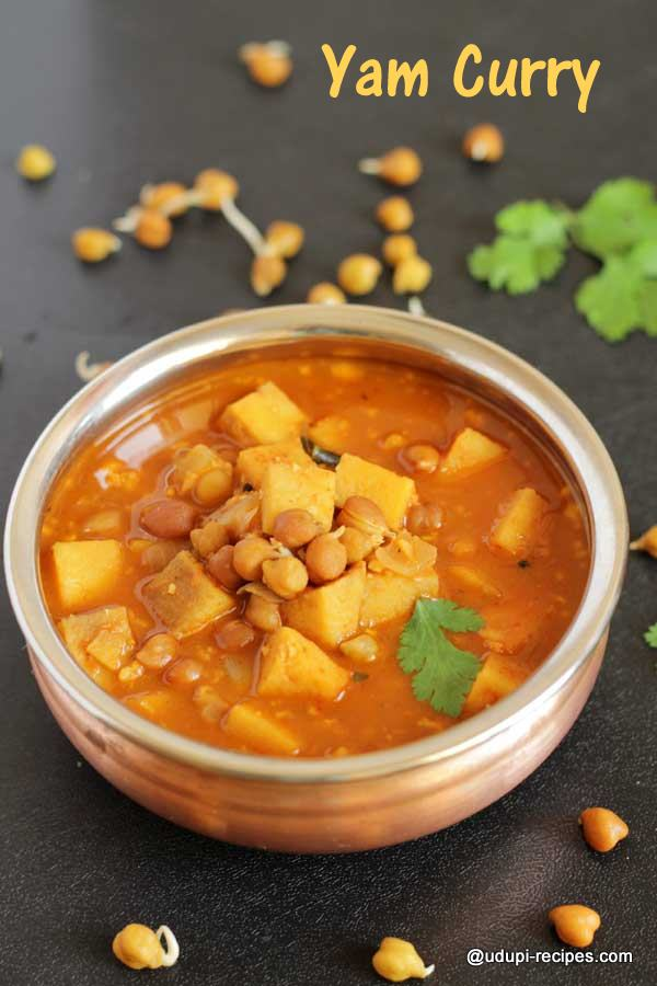 Easy elephant yam curry without dal-