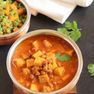 Elephant yam curry
