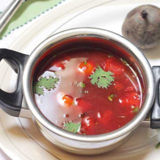Gorgeous beetroot rasam
