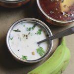 comforting side dish raw banana raita