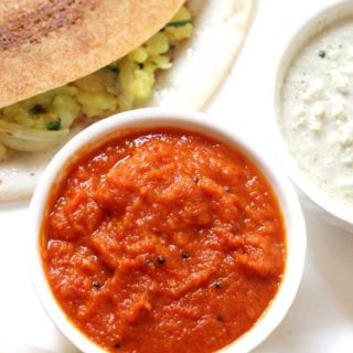tomato onion chutney -best side dish with idli dosa