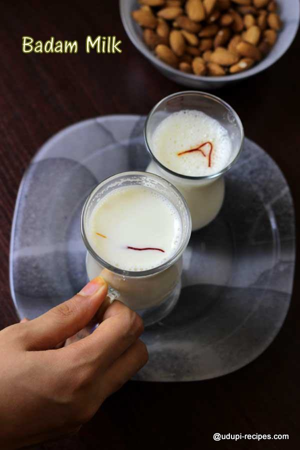 Hot badam milk