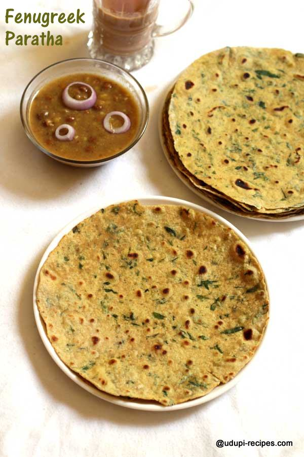 Nutritious fenugreek paratha