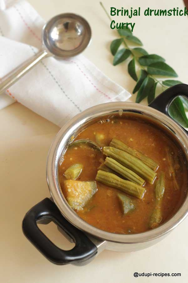 brinjal drumstick curry easy and quick