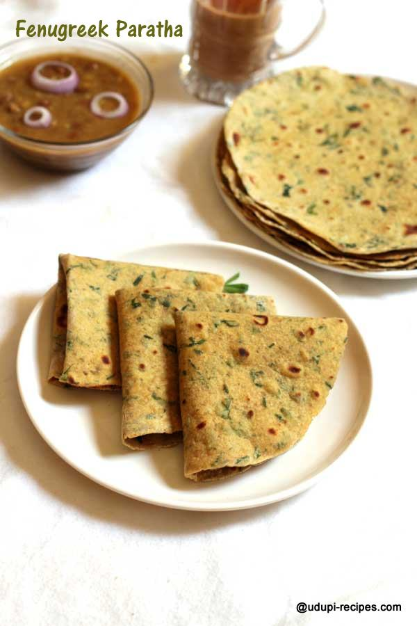 healthy fenugreek  paratha