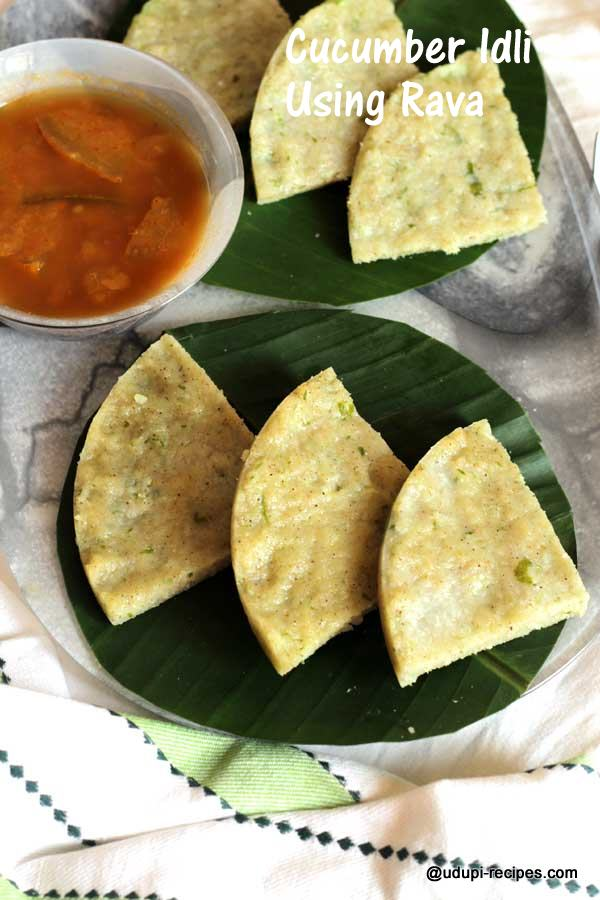 yummy cucumber savory idli using rava
