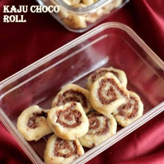 Kaju Choco Roll | Cashew Choco Roll Recipe