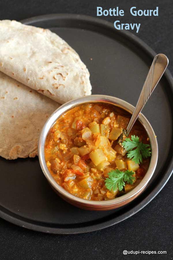 chapati-rotti-side-dish-bottle gourd gravy