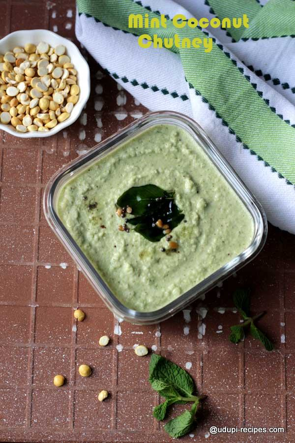 flavorful mint coconut chutney