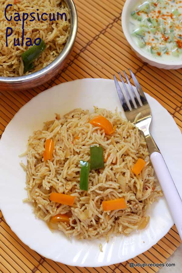 rocking-capsicum pulao-for-lunch