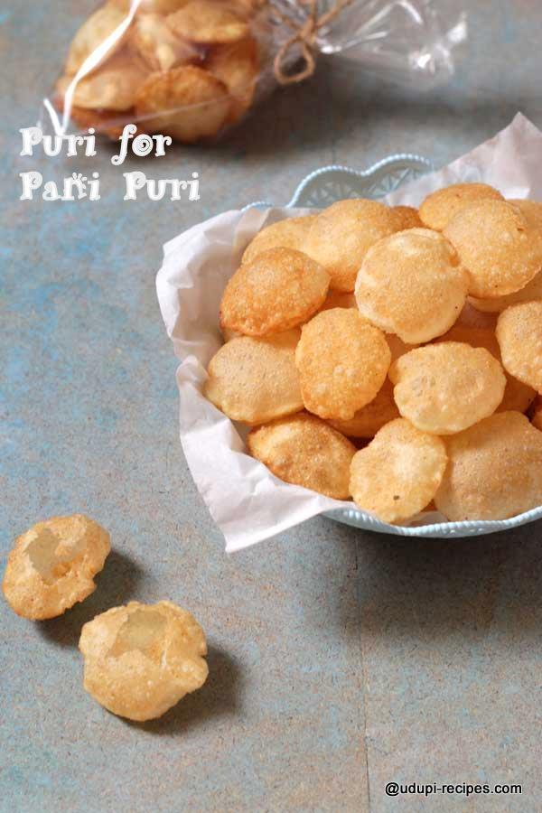 crispy puri for pani puri
