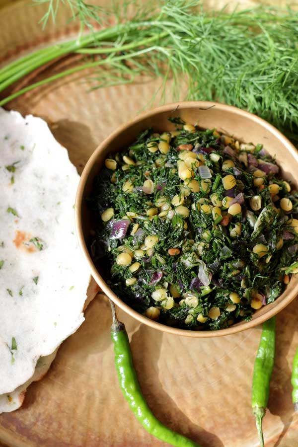 healthy dill leaves stirfry