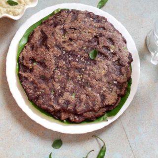 Ragi Rotti | Fingermillet Flour Pancake Recipe