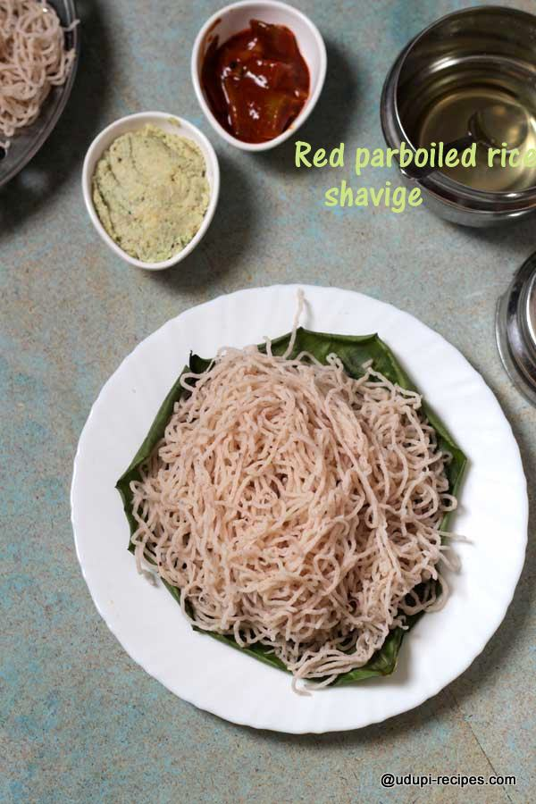 red parboiled rice shavige