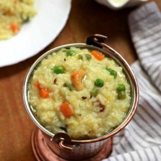 Delicious vegetable pongal