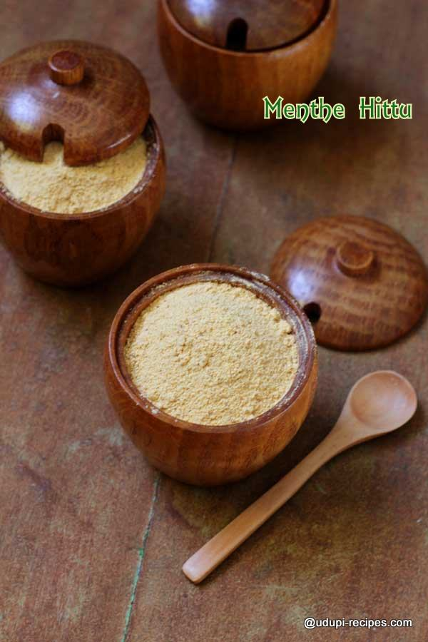 Menthe Hittu | Fenugreek Spice Mix Recipe