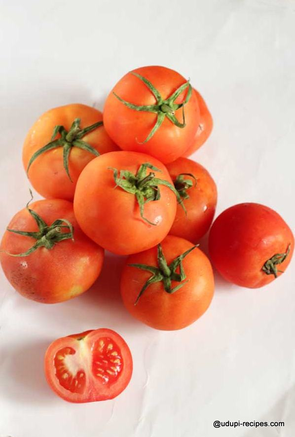 Ripe tomatoes for tomato pickle