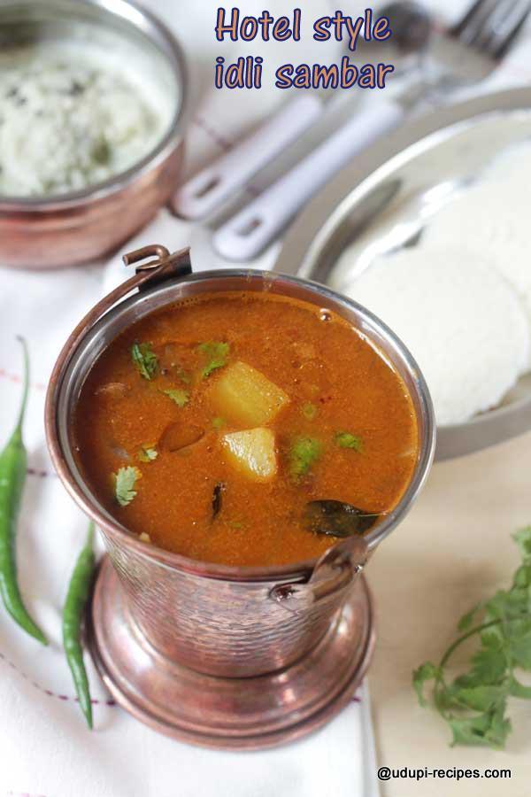 delicious hotel style idli sambar
