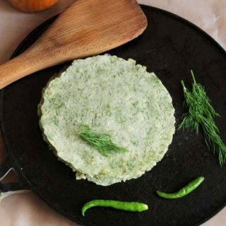 easy dill leaves rotti