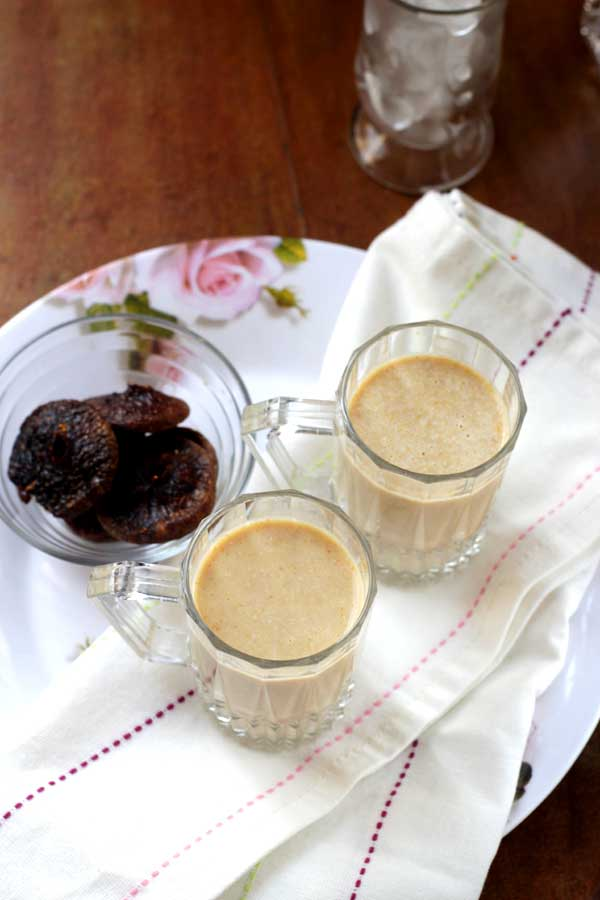 Healthy Fig Milkshake Recipe