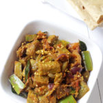 yumm green long brinjal curry