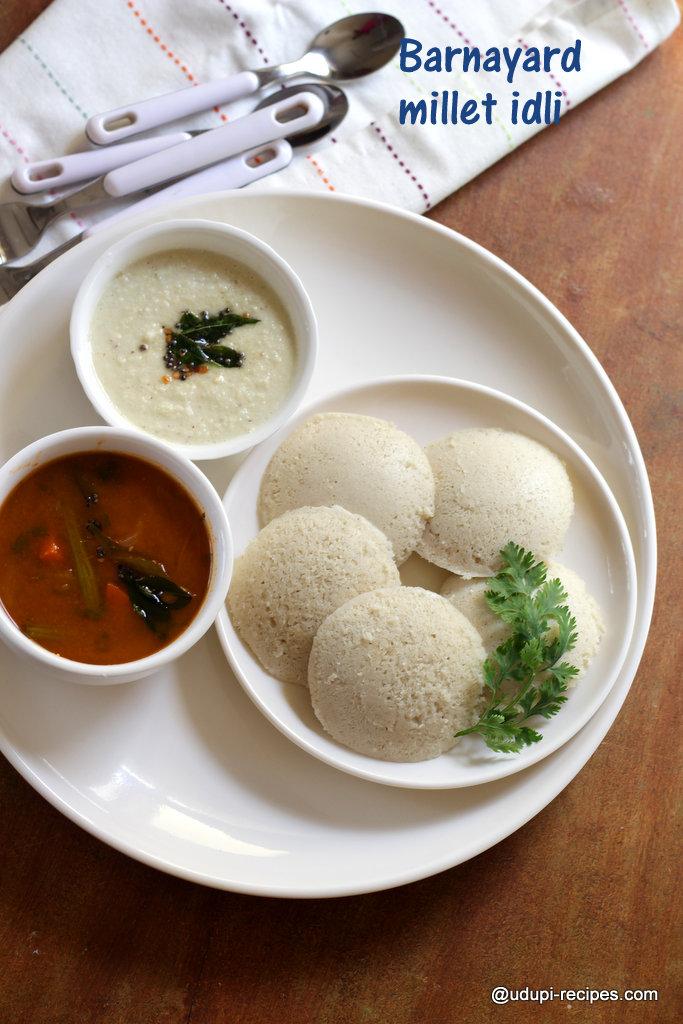 Barnyard Millet Idli Recipe   Diabetic friendly