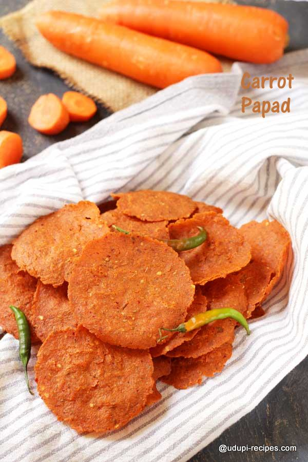 carrot papad