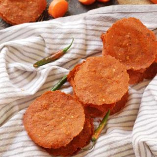 summer special carrot papad
