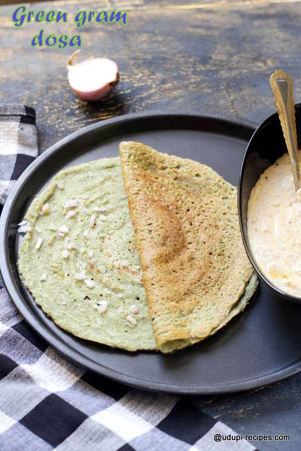 Protein packed green gram dosa