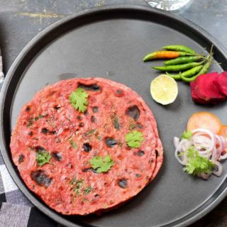 Tasty beetroot chapati-beetroot paratha