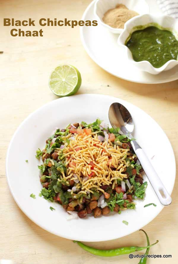 black chickpeas chaat