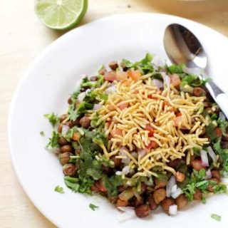 delicious black chickpeas chaat