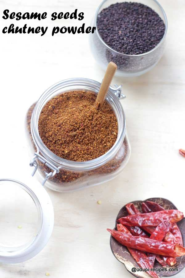healthy sesame seeds chutney powder