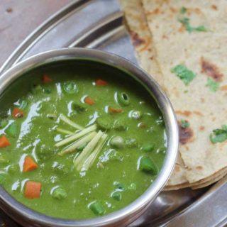 vegetable palak gravy