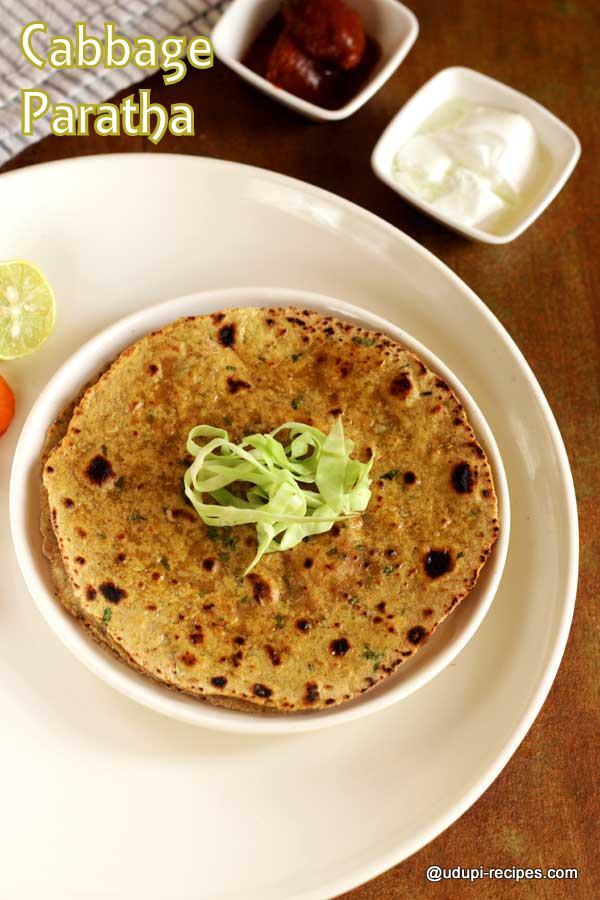Cabbage paratha delicious