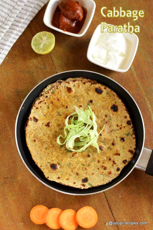 Healthy cabbage paratha