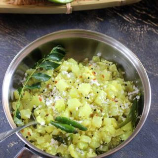chayote stirfry -delicious seeme badane palya