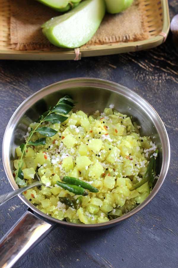 chayote stirfry -delicious seeme badane palya