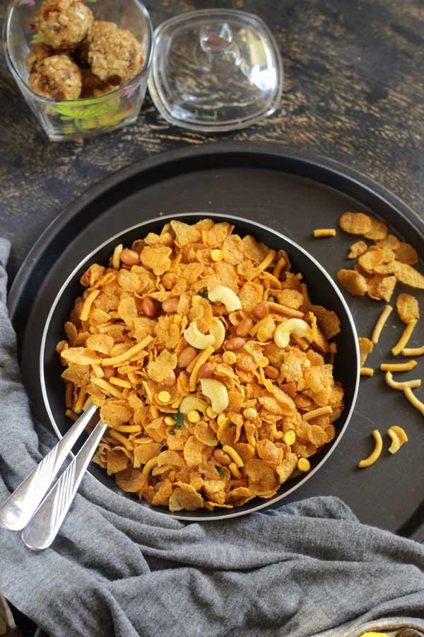 Corn Flakes Mixture | Diwali 2017 Snack