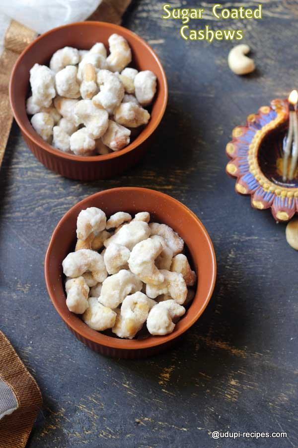 Sugar Coated Cashews | Sweet Cashews