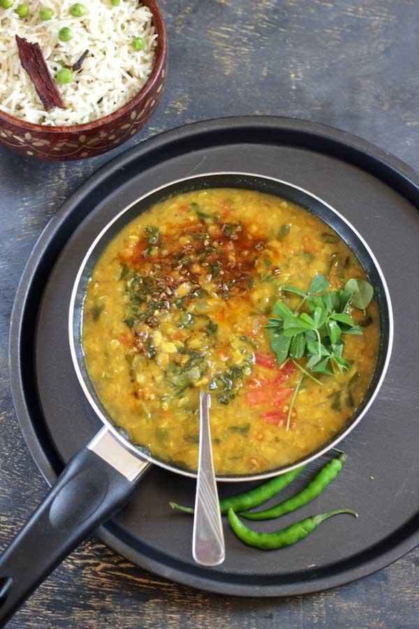 Methi Dal Recipe | Healthy Chapati Side dish