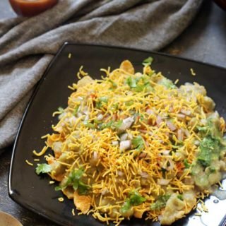 corn flakes masala puri easy chaat