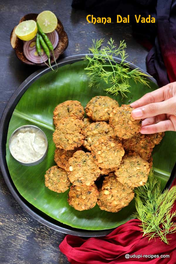chana dal vada with dill leaves yummy