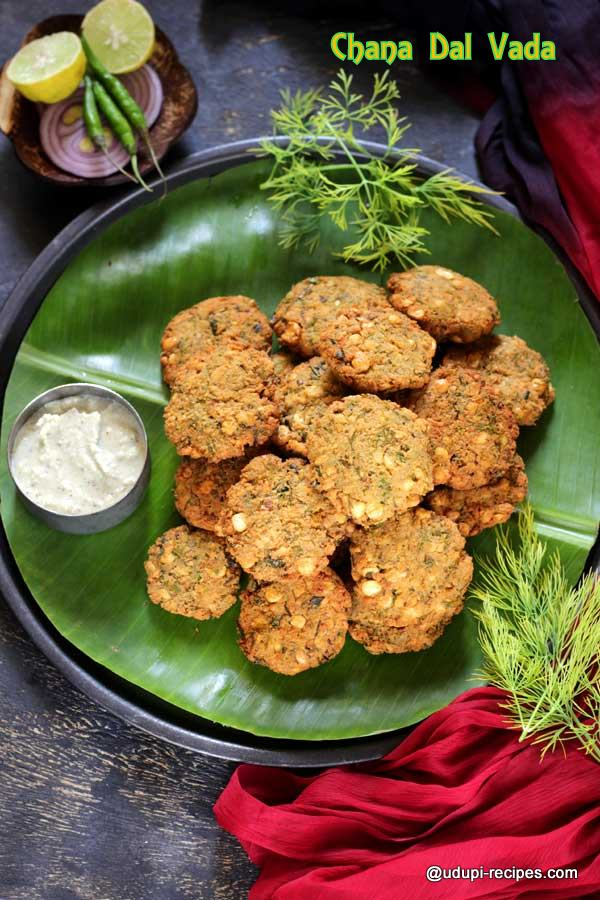 chana dal vada with dill leaves