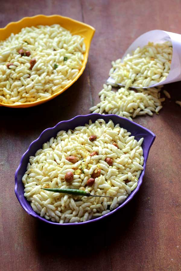 easy snack spicy puffed rice