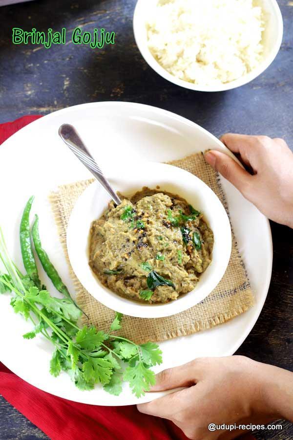 delicious brinjal gojju-1