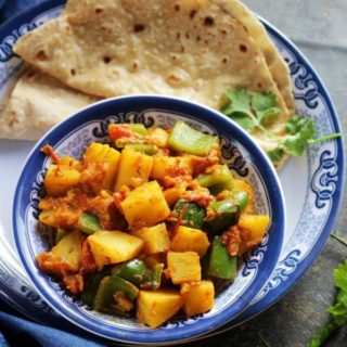 potato capsicum dry curry