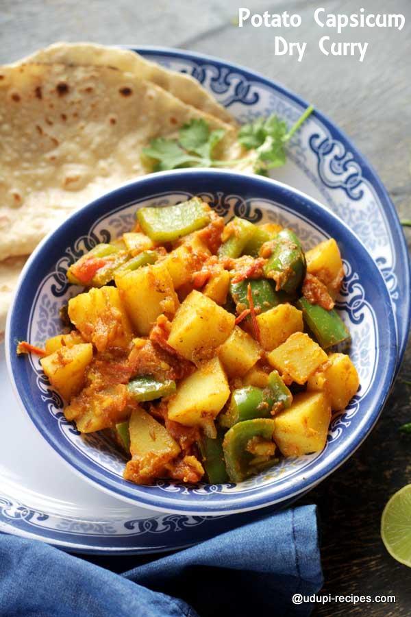 potato capsicum dry curry tasty