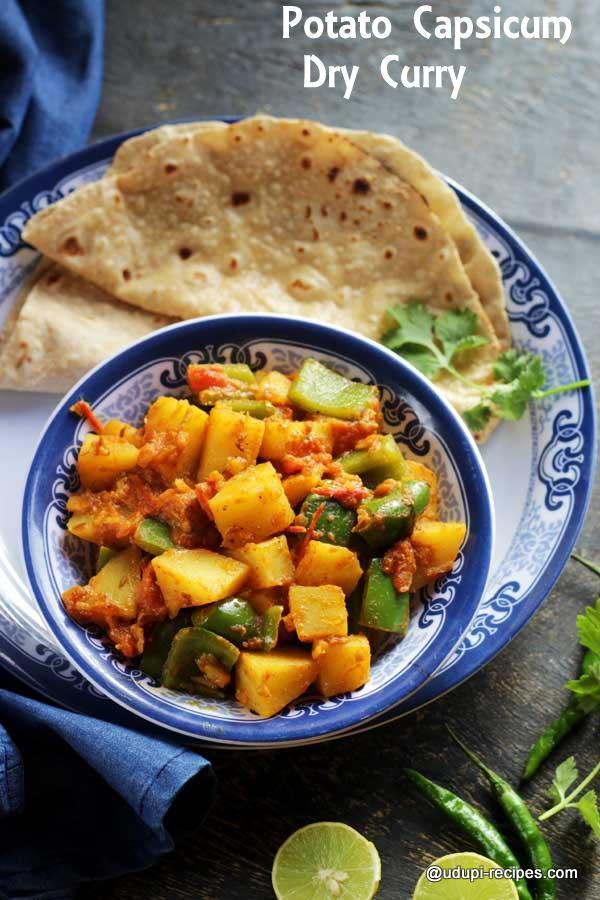 potato capsicum dry curry