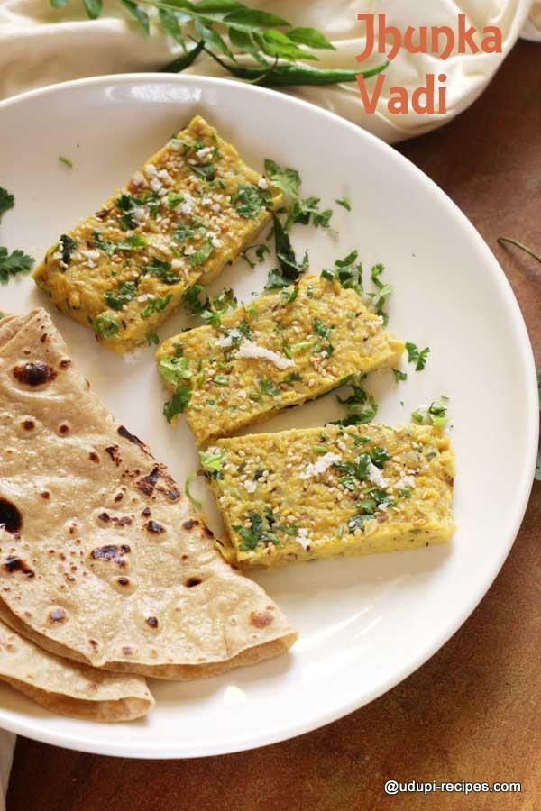easy chapati side dish jhunka vadi